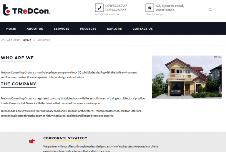 tredcon consulting group - infoscript technologies project